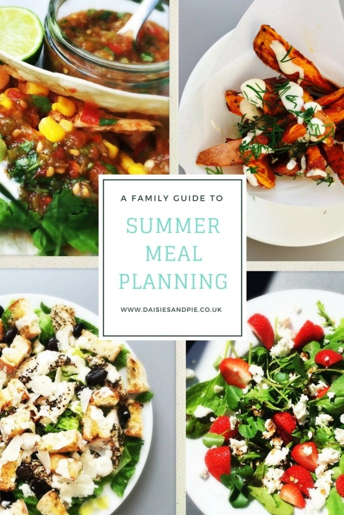 summer meal planning, meal planning for summer, family meal plans, easy family food