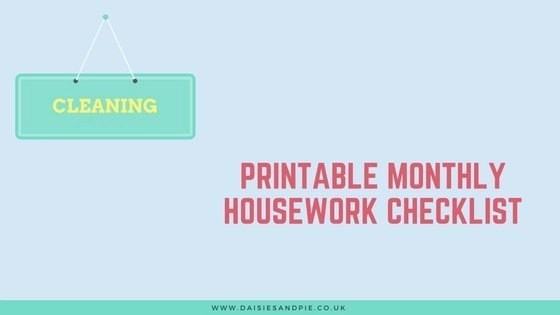 printable monthly housework checklist
