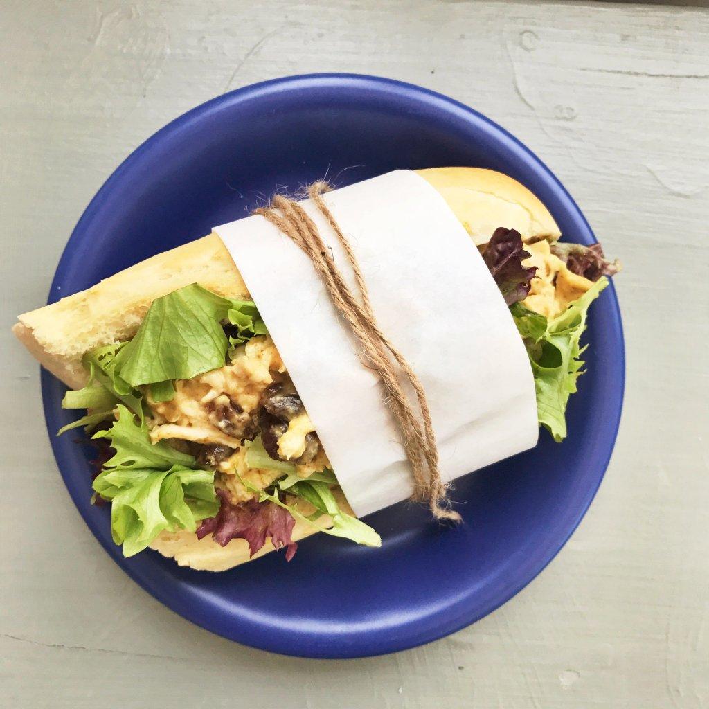 Easy coronation chicken sandwich