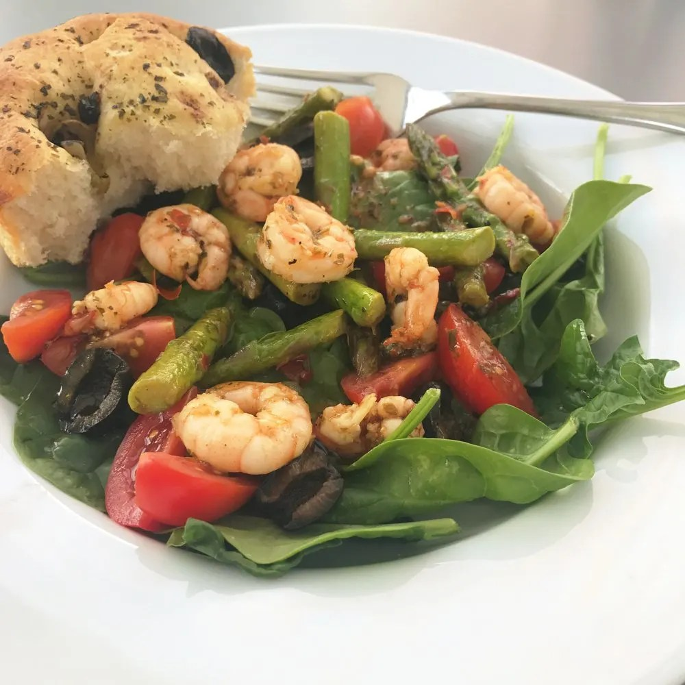 prawn and asparagus salad daisies pie