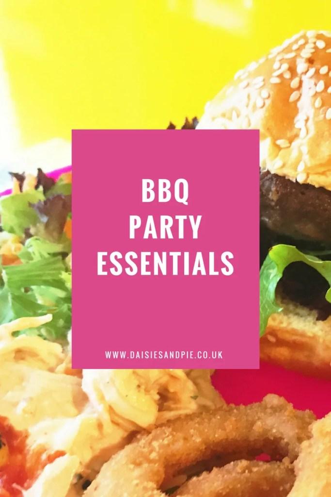 BBQ party essentials, bbq party checklist, homemaking