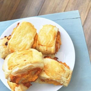 ham and cheese puff pastry roll ups, quick snack recipes, easy family food