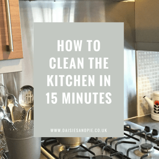 How to clean the kitchen in 15 minutes, kitchen cleaning tips, homemaking tips