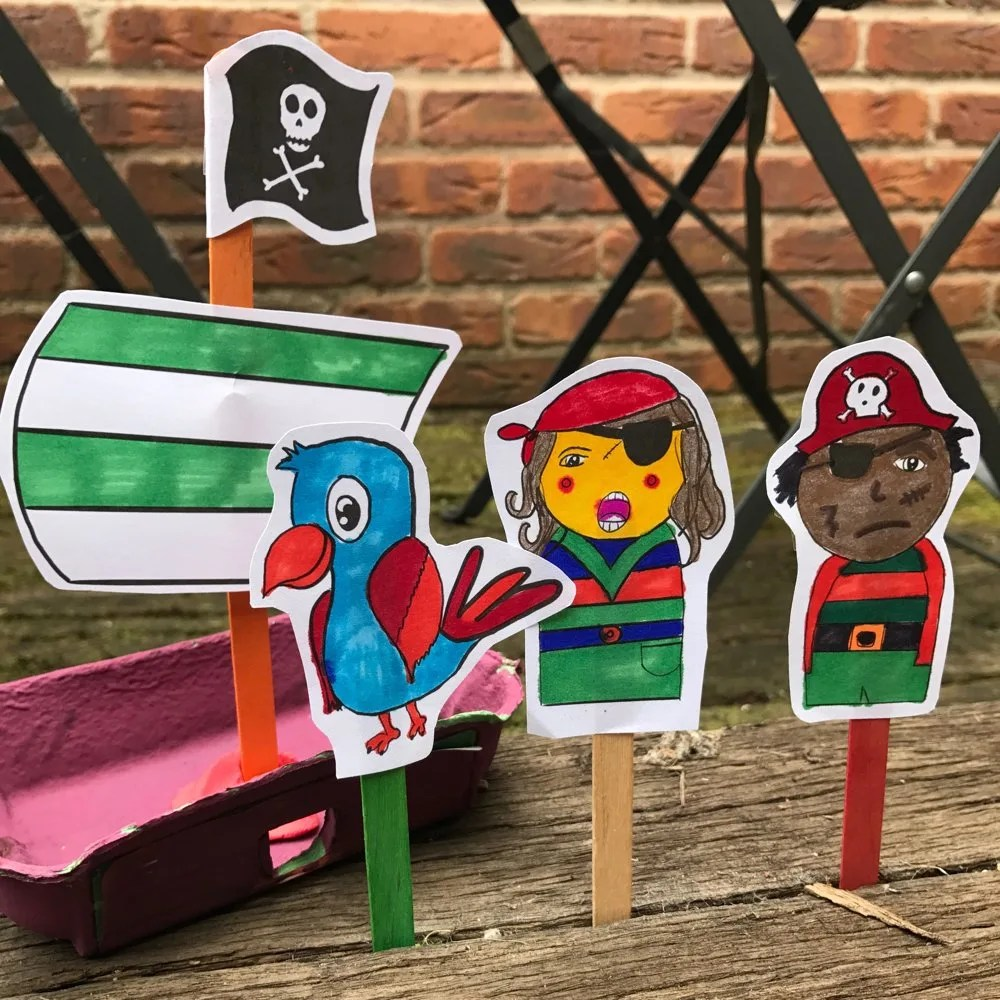 Pirate Puppet Printables