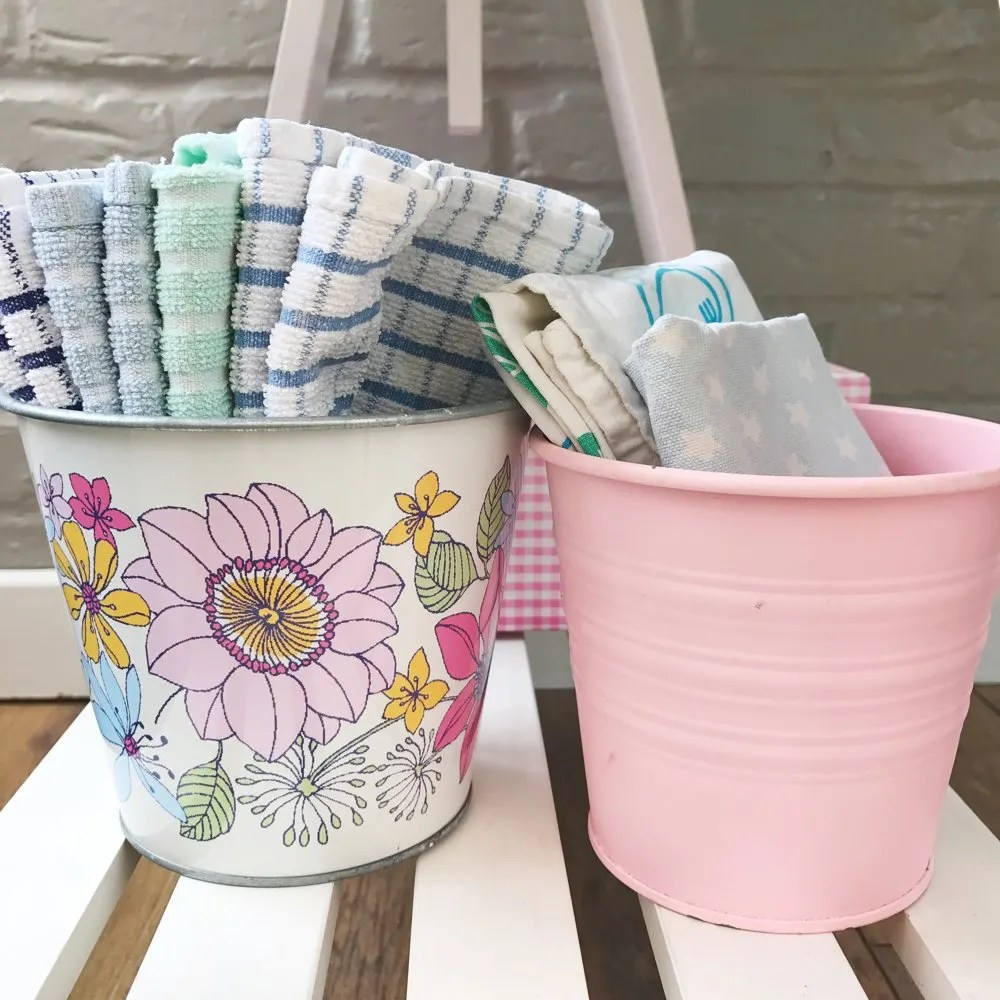 Neat way to store tea towels