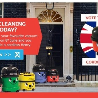 Cordless Vacuum Cleaning, Win a cordless Henry vacuum cleaner