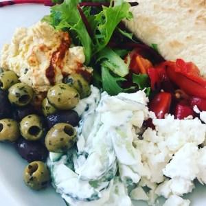 Mini Mezze dinner platter, quick healthy summer dinner idea