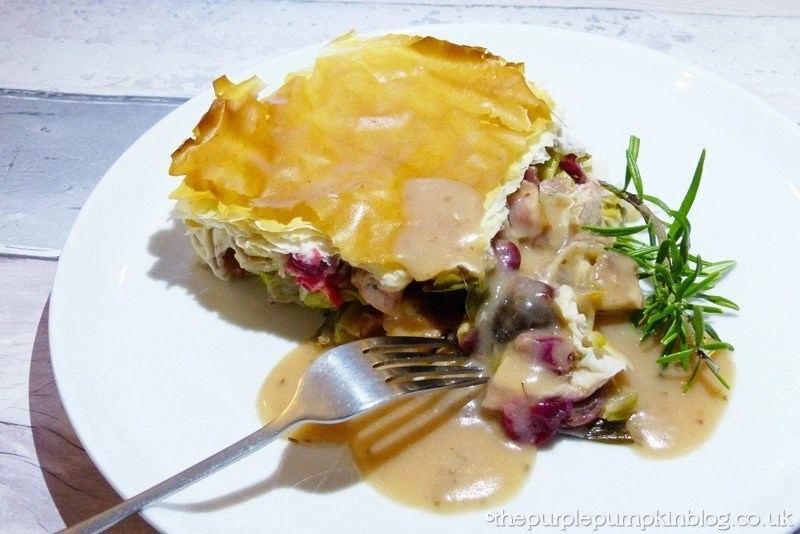 Leftover turkey, chestnut and cranberry pie recipe, things to make with leftover turkey