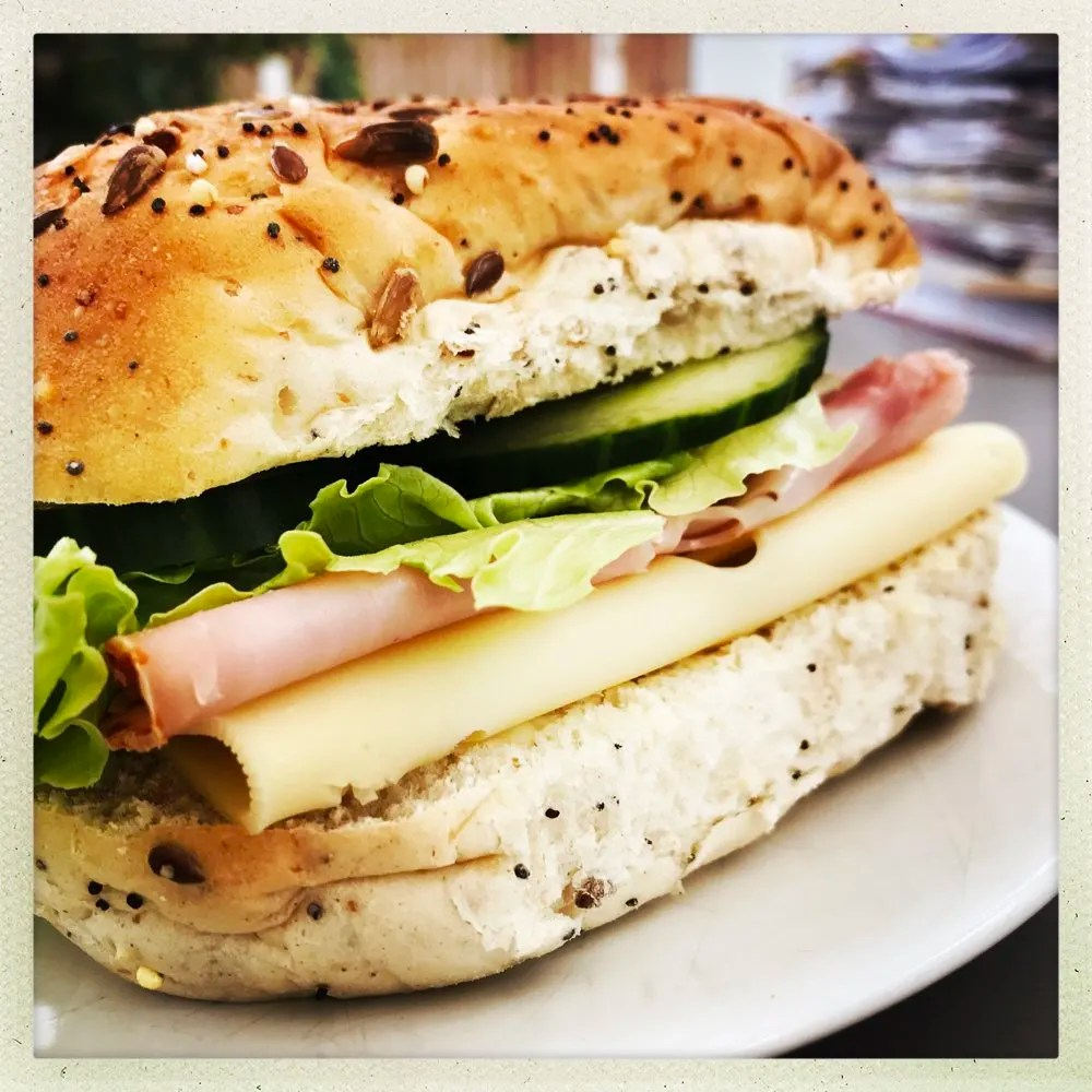 Super Tasty Ham and Cheese Sandwich