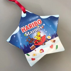 Haribo sweets Christmas tree ornamnents, stocking filler ideas for kids