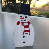 How to make snowman slingshot game, Christmas activities for kids