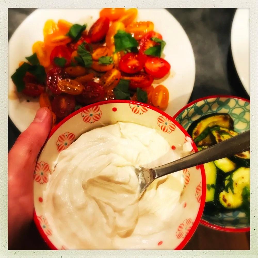 Delicious tahini yogurt dip, flavoursome dip recipe perfect for parties, healthy dip recipes