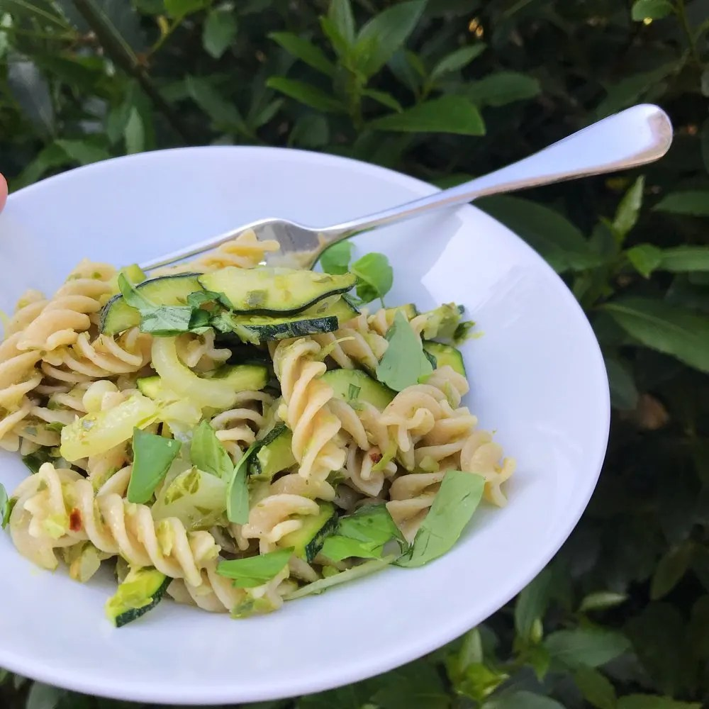 Pasta with Garlicky Greens