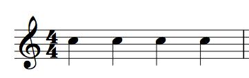 4分音符表