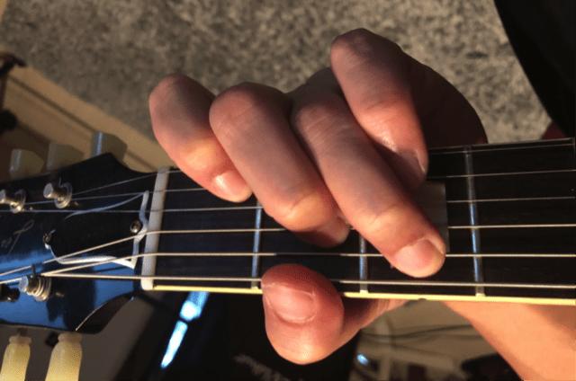 ギターコード「C」の押さえ方