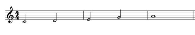 メジャーペンタトニック音階