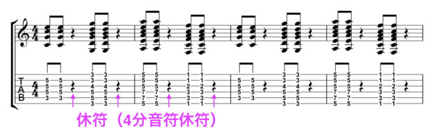 楽譜の休符
