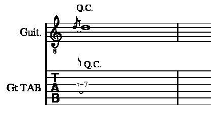 クオーターチョーキングやり方説明3弦7フレット