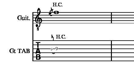 半音上げチョーキングやり方説明9フレット