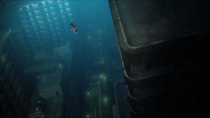 空の境界「俯瞰風景」ビルからビルへ飛び移る両儀式