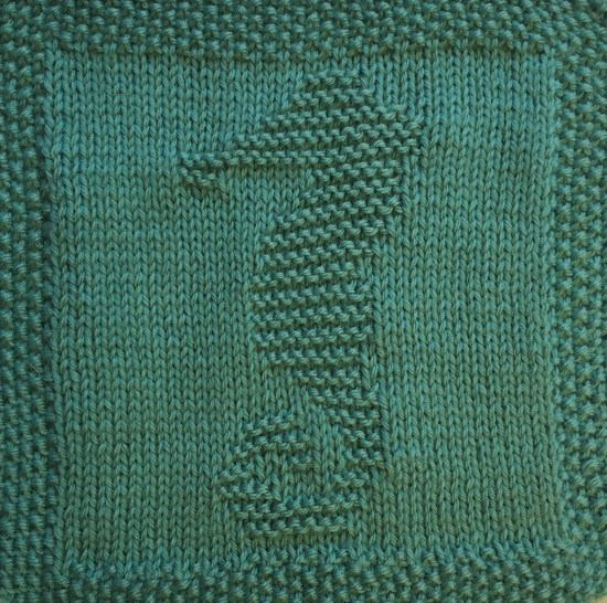 Free Knitting Pattern For Seahorse Dishcloth Or Afghan Square