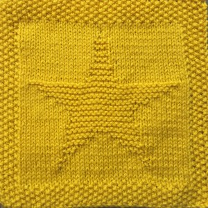 Free knitting pattern for star washcloth or afghan square