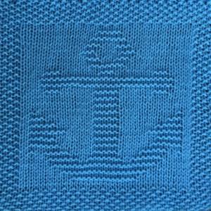 Anchor free knitting pattern for dishcloth, washcloth, afghan square