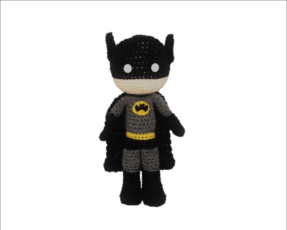 New version of Batman batman doll batman handmade batman doll crochet Batman action hero batman gehaakte batman amigurumi batman