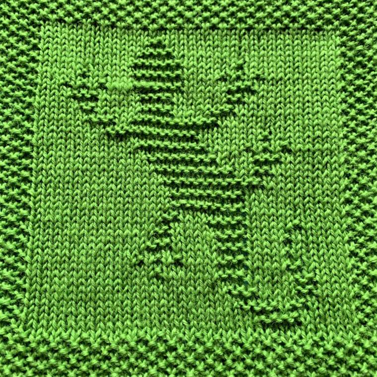 Knitting Pattern for Crocodile Washcloth or Afghan Square