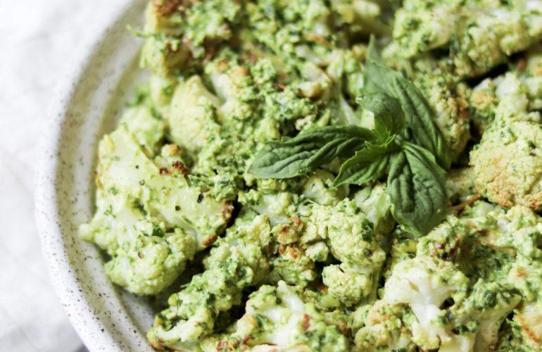 vegan pesto cauliflower