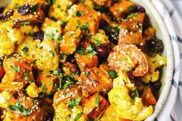 Tahini Citrus Cauliflower Sweet Potato Salad (Vegan, Gluten Free)