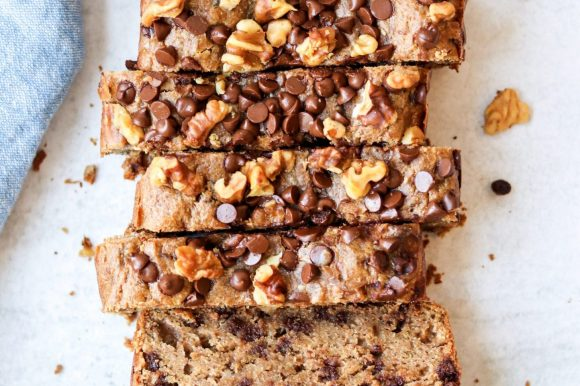 Almond Butter Zucchini Bread with Chocolate Chips