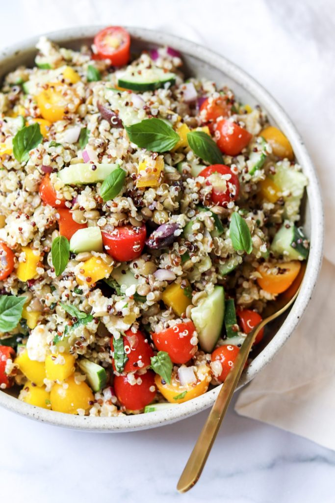 Greek Quinoa Salad/Plant Based Protein - nutrition myths