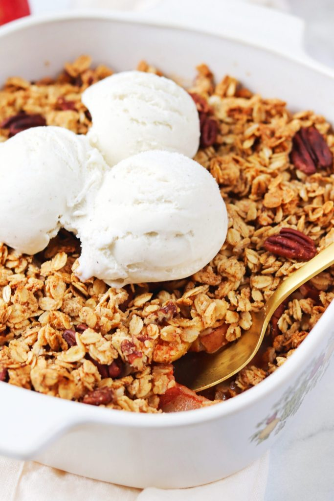 Healthy apple and pear crisp - Daisybeet