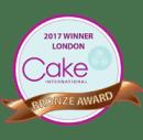 Bronze Award at Cake International London 2017