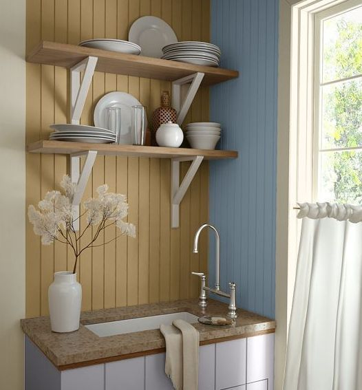 Kitchen Wall Colors Cottage Style