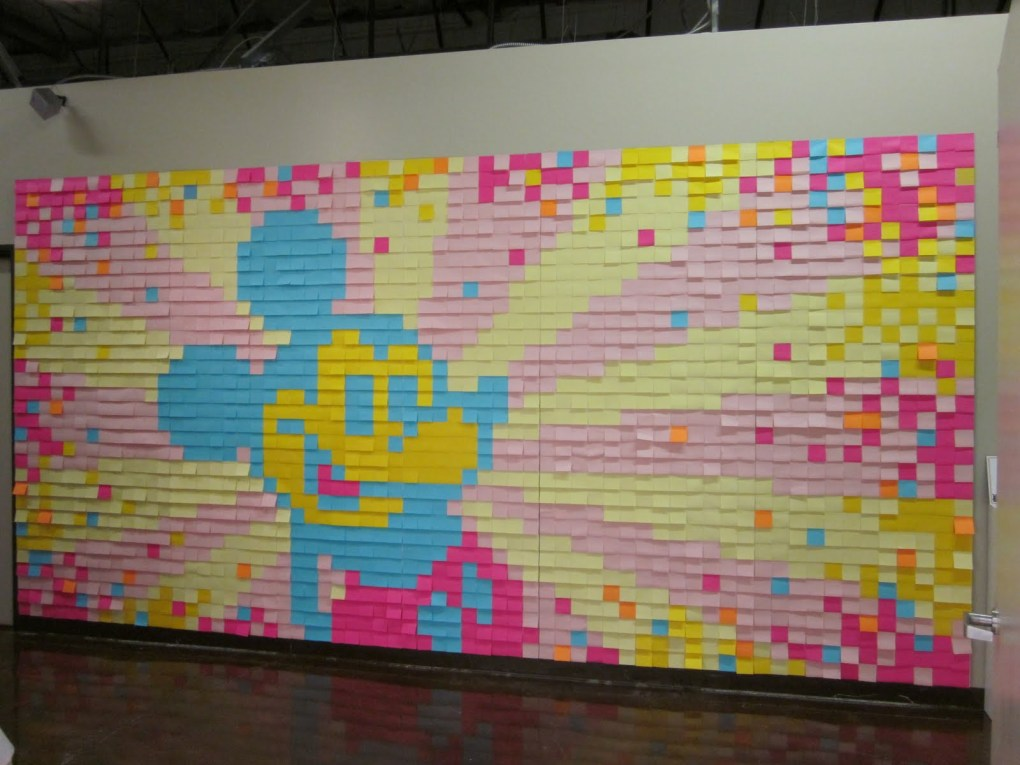 Colorful Post-It Notes on the Wall