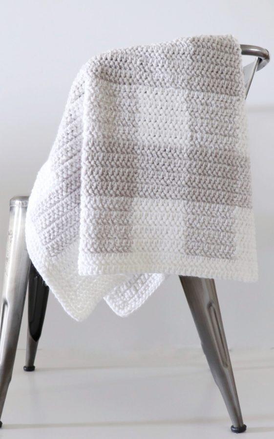 Crochet Modern Even Moss Blanket  Daisy Farm Crafts