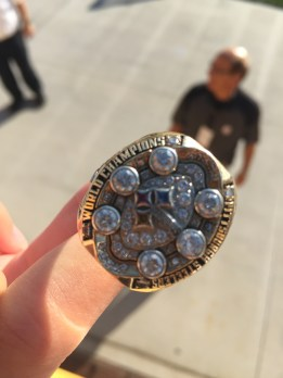 My Niece, Kaitlin Got To Try This Ring On When He Saw She Was A Steelers Fan And She Was At The Game With 2 Philadelphia Eagles Fans, Her Dad And Older Sister.