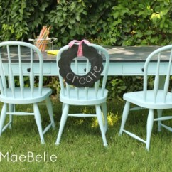 Painted Tables And Chairs Mickey Mouse Chair Desk Uk Painting A Child S Table Daisymaebelle