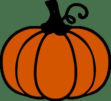 FREE Orange pumpkin SVG Cutting File.