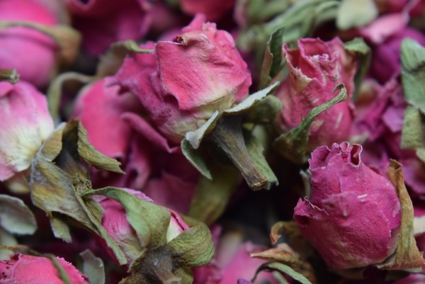 Dried Rose Buds Rouge Pink - Flowers