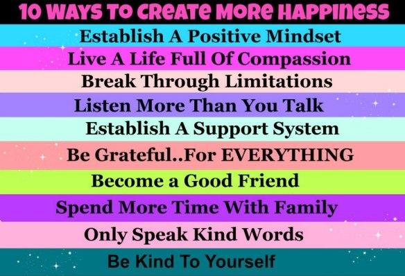 10 maneras de crear más felicidad