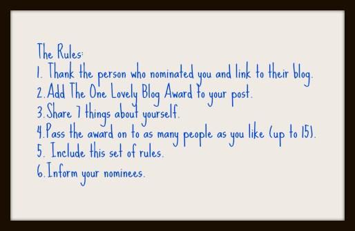 One Lovely Blog Award Rules