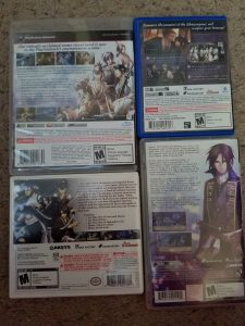 Hakuoki Limited Edition Game Backs