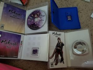 Hakuoki Limited Edition Game Inserts