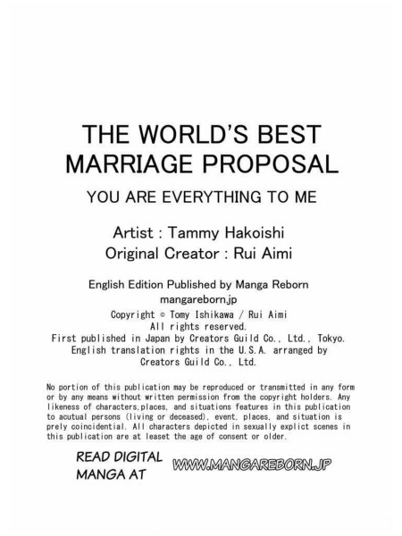 The World's Best Marriage Proposal credits