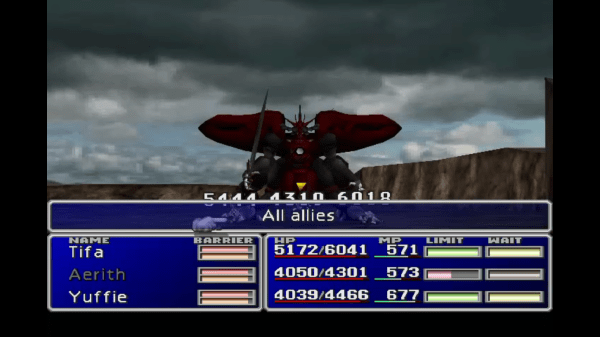 Final Fantasy VII New Threat Omega FFVIII Ultima