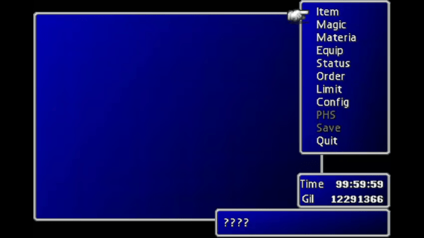 Final Fantasy VII New Threat No Party