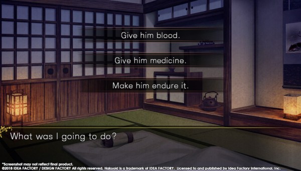 Hakuoki: Edo Blossoms Bloodlust choices